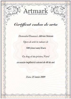 Certificatul  cadou